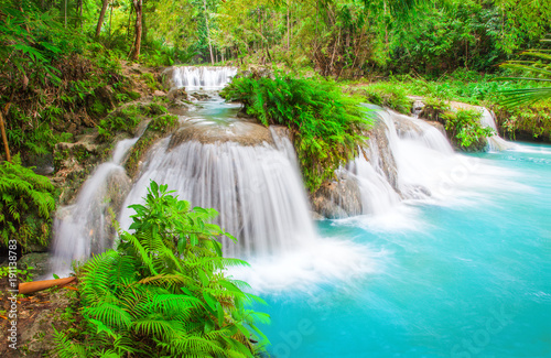 waterfall of island of Siquijor. Philippines - 191138783