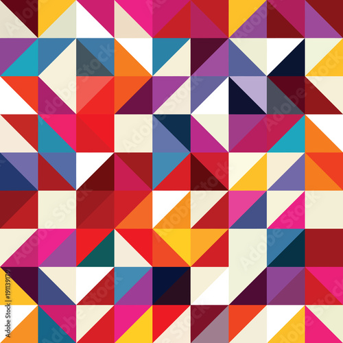 Triangle geometric shapes pattern. - 191139179