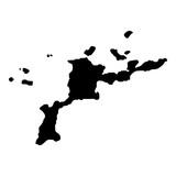 Virgin Gorda map. Island silhouette icon. Isolated Virgin Gorda black map outline. Vector illustration. - 191139985
