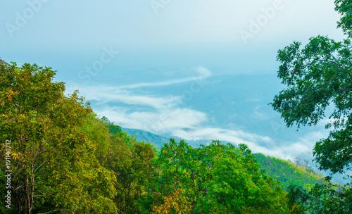 Deurstickers Pool Mountain Mist, thailand