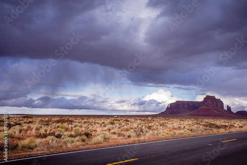 Fotobehang Arizona Storm Clouds over the Valley