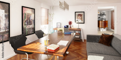 Private Office Design (panoramic)