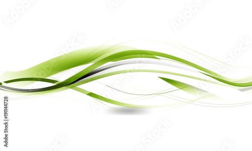 Welle Wellen Band Banner Grün Hintergrund