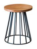 Steel and wooden chair - 191149149