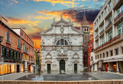 Foto op Canvas Venetie Church San Moise in Venice, Italy