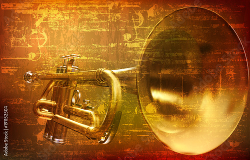abstract-grunge-background-with-trumpet