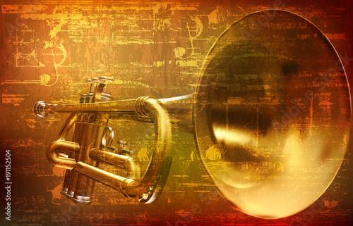 fondo-abstracto-grunge-con-trompeta