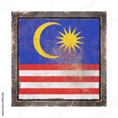 Fotobehang Kuala Lumpur Old Malaysia flag