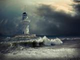 Lighthouse on the sea under sky - 191156900