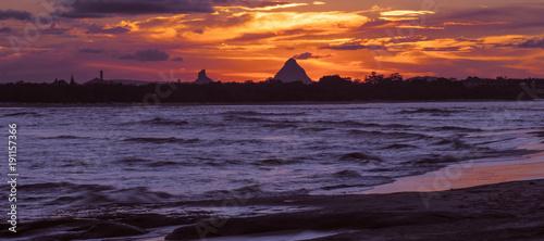 Beach scene at Kings Beach in the Sunshine Coast, Queensland. - 191157366