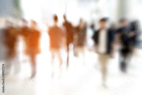 Abstract zoom blur people walking - 191157774