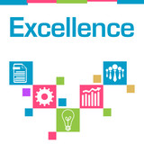 Excellence Colorful Squares Symbols  - 191162725