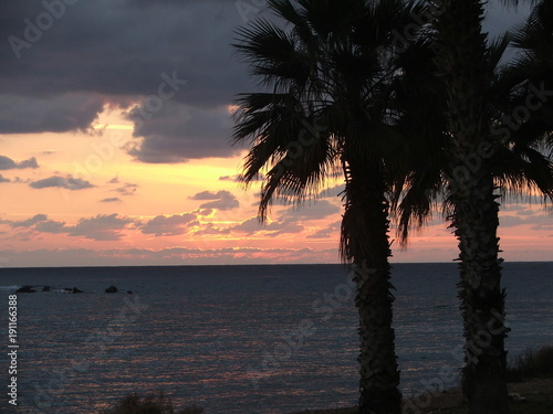 Keuken foto achterwand Cyprus zachód słońca
