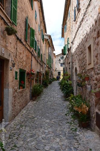 Fotobehang Smalle straatjes Palma de Majorque, une île de rêve