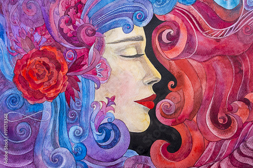 kobieta-malarstwo-akwarela