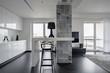 Modern black and white interior - 191181558