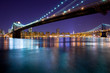 Brooklyn Bridge and Manhattan Bridge over the East River, Manhattan, New York City, New York, United States