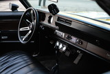 interior of muscle car