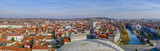Aerial view from the city hall tower over Oradea town center - 191190141