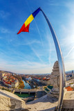 Aerial view from the city hall tower over Oradea town center - 191190146