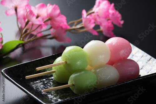 Keuken foto achterwand Kyoto Japanese Spring Dango