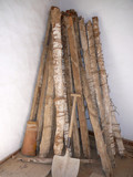 Old roof beams with plated esparto grass binding - 191198301