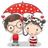 Cute Boy and girl wi...
