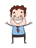 cartoon man happy face  illustration