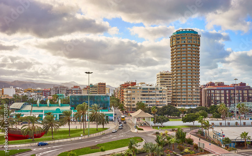 Downtown of Las Palmas on Grand Canary Island / Cityscape of Capital of Gran Canaria