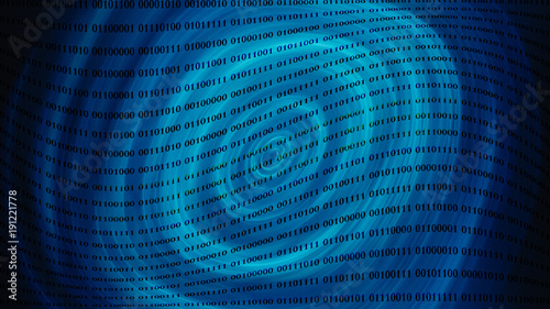 Deurstickers Abstract wave Digital cyber pattern.Abstract blue background .