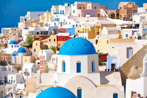 Fotobehang Santorini Oia town on Santorini island, Greece.