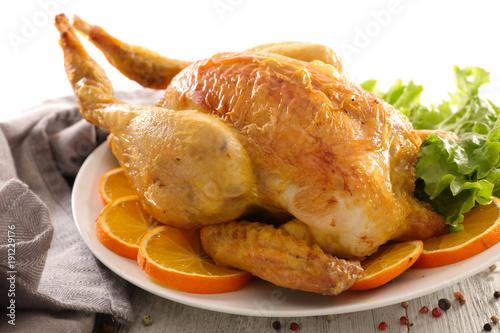 baked chicken and orange