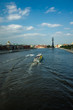 The Moscow River and a view of the temple and monument to Peter 1, Russia, Moscow