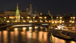Moscow Kremlin classic scenic view at night