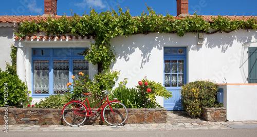 Poster Île de Noirmoutier > Les rues > Vélo rouge