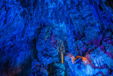 Illumination of underground caves with lakes in Guilin City, Guangxi Province, People's Republic of China - 191232362