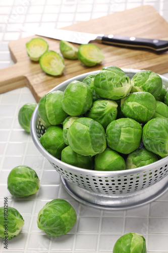 Tuinposter Brussel fresh brussels sprouts