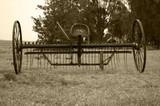 vieja cosechadora monocromo - 191235333