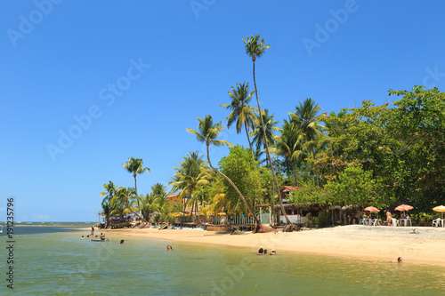 Fotobehang Tropical strand Boca da Barra - Ilha de Boipeba - Ba