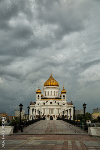 Fotobehang Moskou The Cathedral of Christ the Savior in Moscow