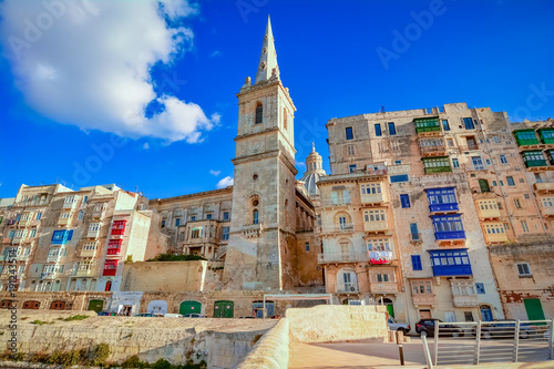 Valletta, Malta - St.Paul's Anglican tower cathedral