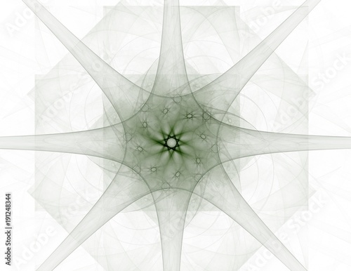 Abstract fractal background - computer-generated image. Digital art. Converging toward the center of the circles. - 191248344