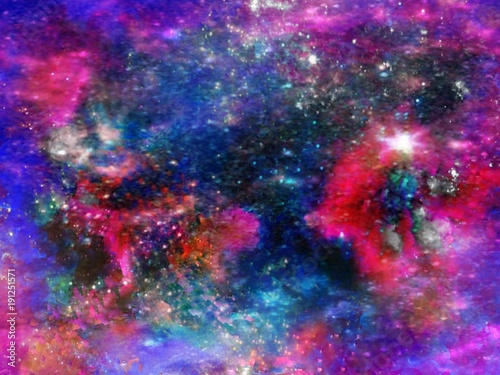 Canvas UFO Bright Neon Supernova Galaxy