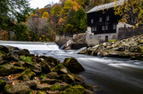 Historic McConnell's Mill & Waterfall in Autumn - Pennsylvania - 191268330