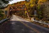 Historic Truss Crossing in Autumn - Mountville Road Bridge - Lawrence County, Pennsylvania