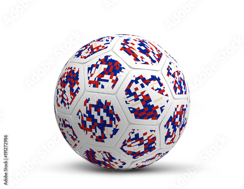 Foto op Canvas Bol Russia russian color dsign soccer football ball design 3d rendering illustration
