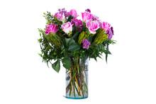 Pink Rose Vase   Sticker