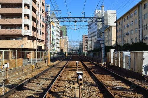 Papiers peints Voies ferrées 鉄道