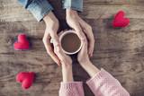 Lover holding coffee mug - 191286991