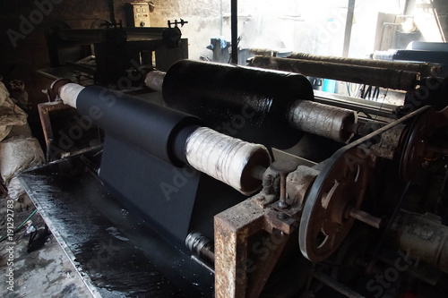 Textile dying factory